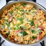 Creamy Sausage and Spinach Pasta Skillet